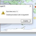 Solución al Runtime error 5 Invalid Procedure call or argument